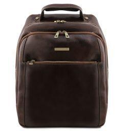 Phuket 3 Compartments leather laptop backpack Темно-коричневый TL141402