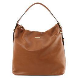 TL Bag Soft leather hobo bag Cognac TL141884