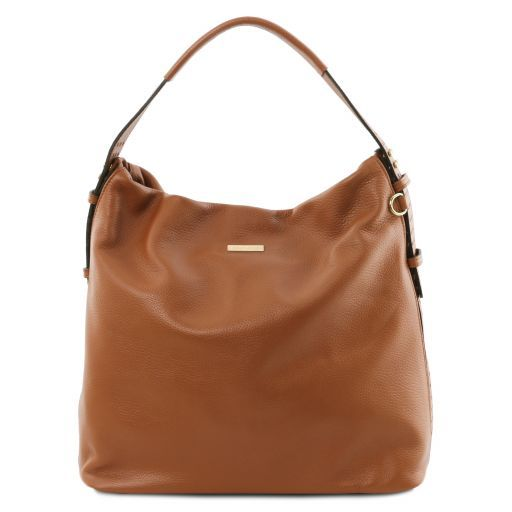 TL Bag Soft leather hobo bag Коньяк TL141884