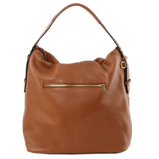 TL Bag Borsa hobo in pelle morbida Cognac TL141884