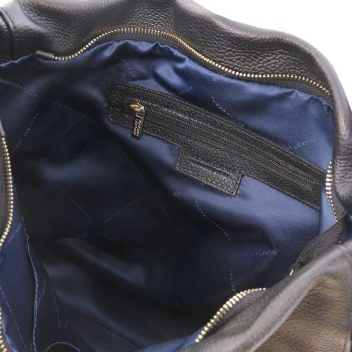 TL Bag Borsa hobo in pelle morbida Nero TL141884