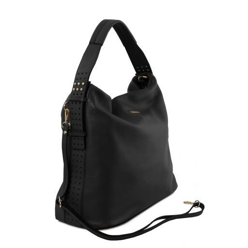 TL Bag Soft leather hobo bag Black TL141884