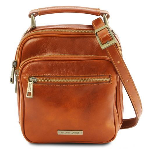 Paul Leather Crossbody Bag Мед TL141916