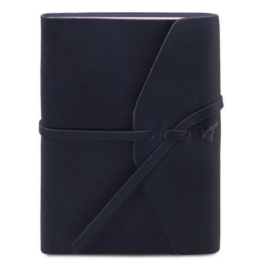Diario de viaje en piel Azul oscuro TL141925