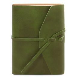 Reisetagebuch aus Leder Grün TL141925