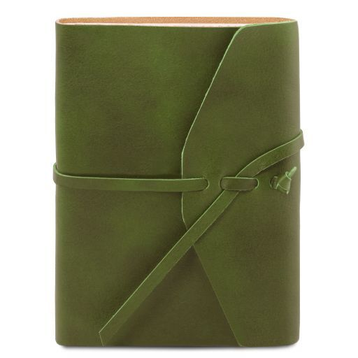 Leather travel diary Зеленый TL141925