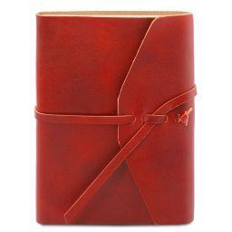 Diario de viaje en piel Rojo TL141925