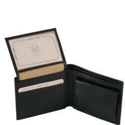 Esclusivo portafoglio uomo in pelle 3 ante Marrone TL141377