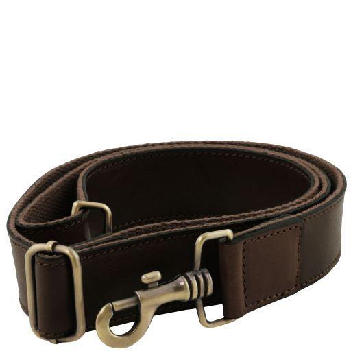 Регулируемый кожаный ремень на плечо для портфелей Темно-коричневый TL141854