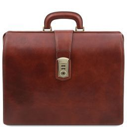 Canova Leather Doctor bag briefcase 3 compartments Коричневый TL141826
