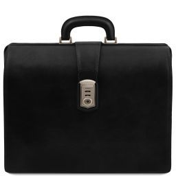 Canova Leather Doctor bag briefcase 3 compartments Black TL141826