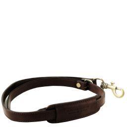 Adjustable briefcases leather shoulder strap Dark Brown TL141931