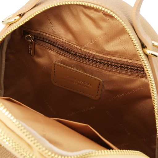 TL Bag Leather backpack for women Champagne TL141743