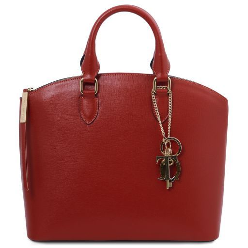 TL KeyLuck Saffiano leather tote Red TL141261