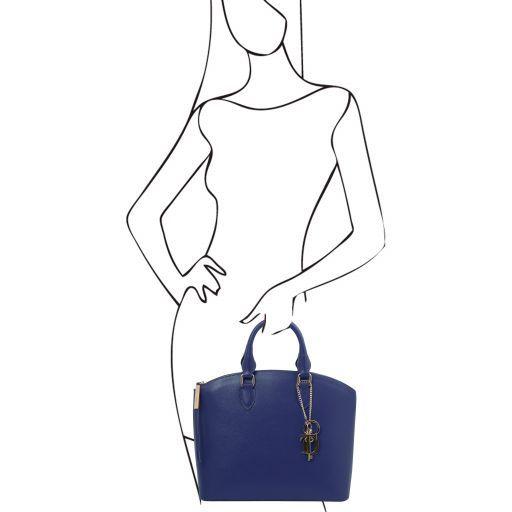 TL KeyLuck Saffiano leather tote Blue TL141261