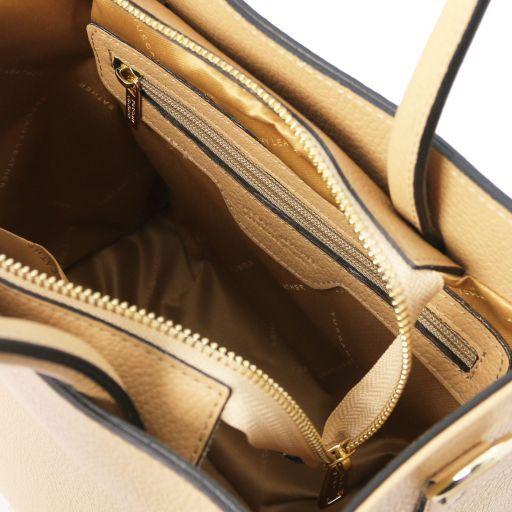 Medea Leather vertical tote Champagne TL141937