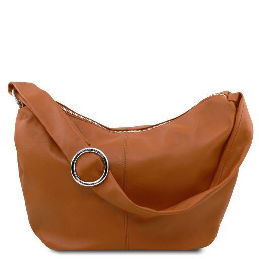 Yvette Soft leather hobo bag Cognac TL140900