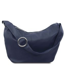 Yvette Soft leather hobo bag Dark Blue TL140900