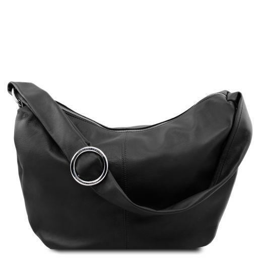 Yvette Soft leather hobo bag Black TL140900