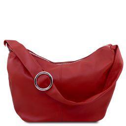 Yvette Bolso hobo en piel suave Rojo TL140900