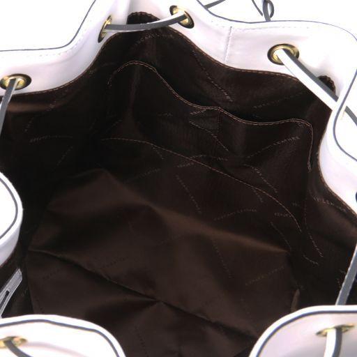 Vittoria Leather secchiello bag White TL141531