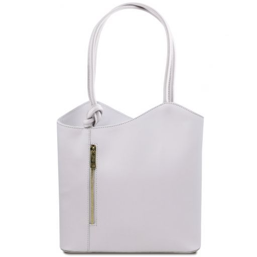 Patty Saffiano leather convertible bag Белый TL141455