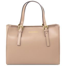 Aura Leather handbag Champagne TL141434
