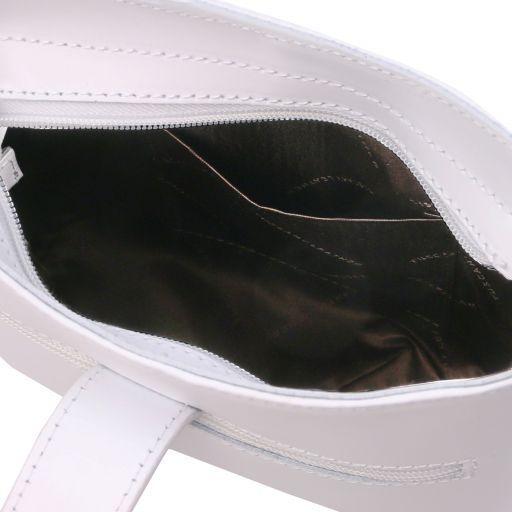 Teti Borsa a tracolla in pelle Bianco TL141901