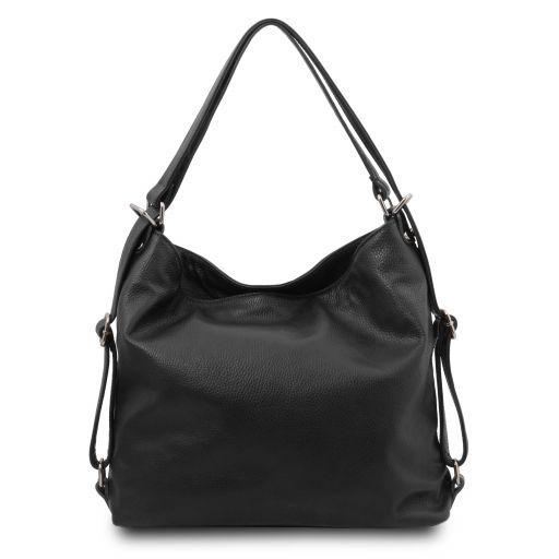 TL Bag Soft leather convertible shoulder bag Black TL141938