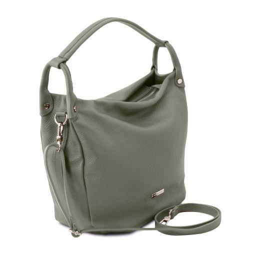 TL Bag Borsa hobo in pelle morbida Verde Menta TL141855
