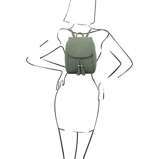 TL Bag Mochila en piel suave Menta Verde TL141905