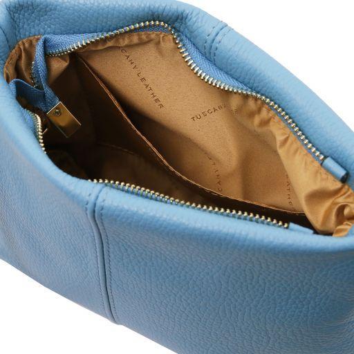 TL Bag Borsa a tracolla in pelle morbida Azzurro TL141720