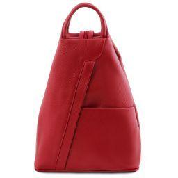 Shanghai Rucksack Tropfendesign aus Leder Lipstick Rot TL141881