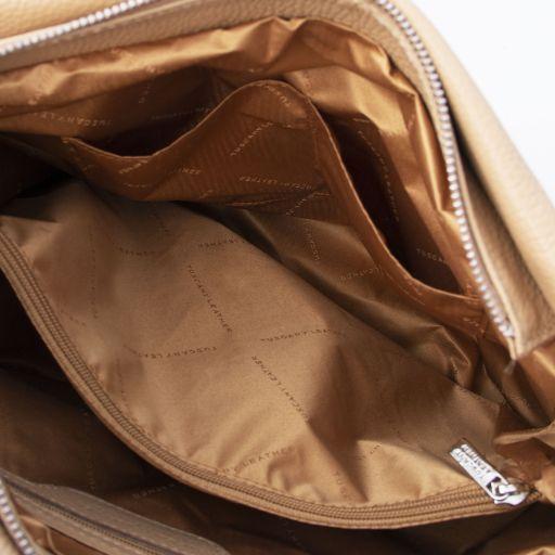 TL Bag Beuteltasche aus weichem Leder Champagne TL141855