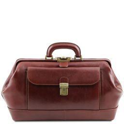 Bernini Esclusiva borsa medico in pelle Marrone TL141298