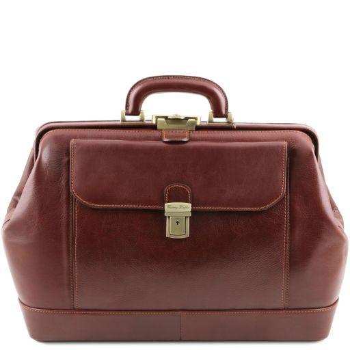 Leonardo Esclusiva borsa medico in pelle Marrone TL141299