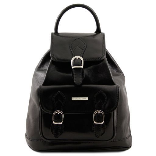 Singapore Leather - Backpack Black TL9039