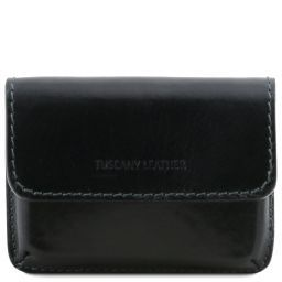 Exclusive leather business cards holder Black TL141378
