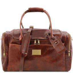 TL Voyager Дорожная кожаная сумка с боковыми карманами Коричневый TL141296