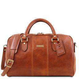Lisbona Travel leather duffle bag - Small size Honey TL141658