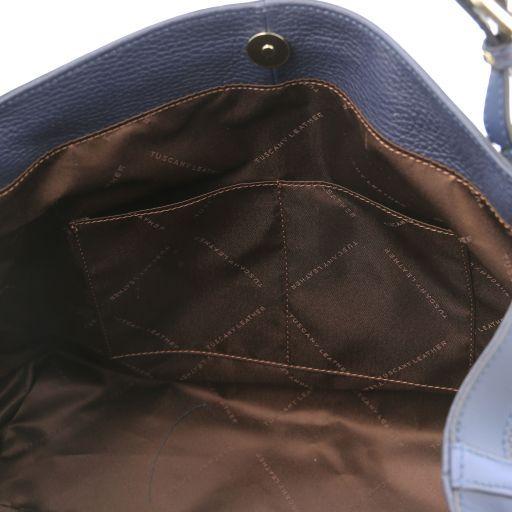 Ambrosia Cityshopping aus weichem Leder mit Tragegurt Dunkelblau TL141516