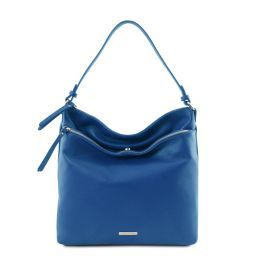 TL Bag Borsa al hombro en piel suave Azul TL141874