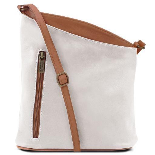 TL Bag Mini soft leather unisex cross bag White TL141111