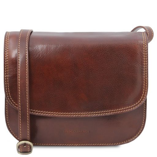 Greta Lady leather bag Brown TL141958