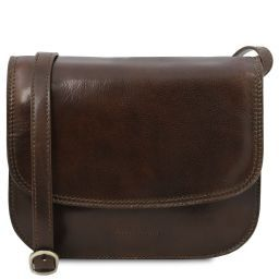 Greta Lady leather bag Dark Brown TL141958