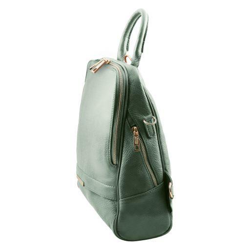 TL Bag Zaino donna in pelle morbida Verde Menta TL141376