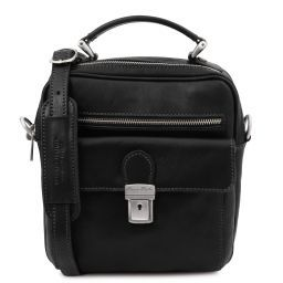 Brian Leather shoulder bag for man Black TL141978