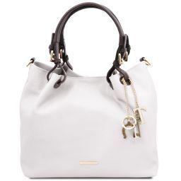 TL KeyLuck Bolso shopping en piel suave Blanco TL141940
