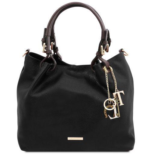 TL KeyLuck Bolso shopping en piel suave Negro TL141940