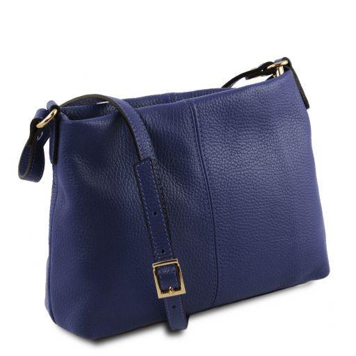 TL Bag Borsa a tracolla in pelle morbida Blu scuro TL141720